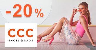 Zľavový kód -20% a doprava zadarmo na CCC.eu