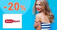 Zľavový kód -20% extra na všetko na BezvaSport.sk