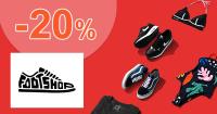 Zľavový kód -20% extra zľava na FootShop.sk