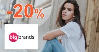 Zľavový kód -20% na BigBrands.sk, akcia, kupón, zľava