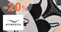 Zľavový kód -20% na dámsku bielizeň na Attractiv.sk