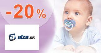 Zľavový kód -20% na detské potreby na Alza.sk