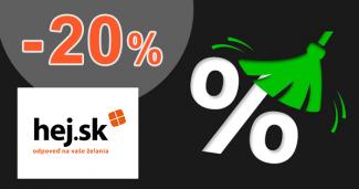Zľavový kód -20% na vybrané kúsky na Hej.sk