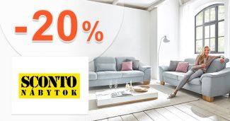 Zľavový kód -20% zľava + EXTRA -20% na Sconto.sk