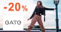 Zľavový kód -20% zľava NA VŠETKO na GATE.shop