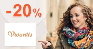 Zľavový kód -20% zľava k nákupu na Vivantis.sk