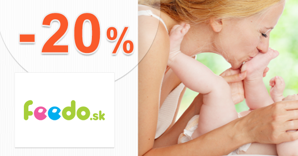 Zľavový kód -20% zľava na detský tovar na Feedo.sk