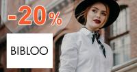 Zľavový kód -20% zľava na módu na Bibloo.sk