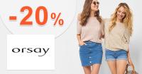 Zľavový kód -20% zľava na módu na Orsay.sk