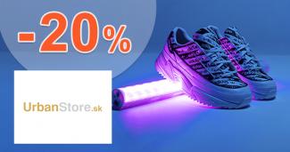 Zľavový kód -20% zľava na obuv na UrbanStore.sk