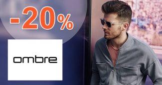 Zľava -20% na všetko na prvý nákup na Ombre.com