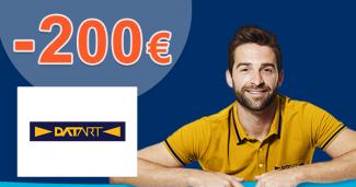 Zľavový kód -200€ zľava na elektro na Datart.sk