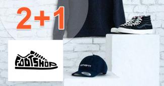 Zľavový kód 2+1 akcia na doplnky na FootShop.sk