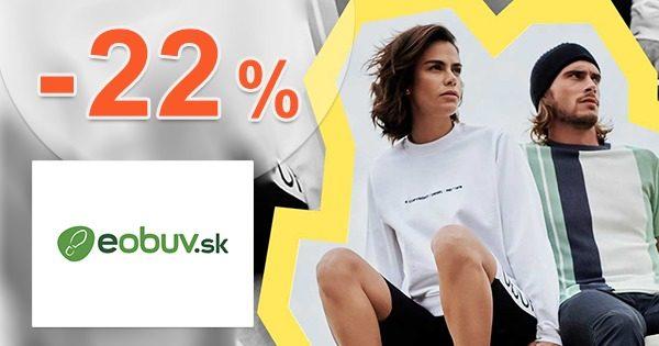 Zľavový kód -22% ZĽAVA k nákupu na eObuv.sk