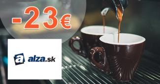 Zľavový kód -23€ na kávovary Sencor na Alza.sk