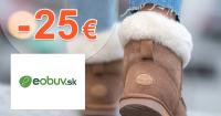 Zľavový kód -25€ na eObuv.sk