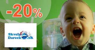 Zľavový kód -20% na SkvelyDarcek.sk, kupón, zľava, akcia