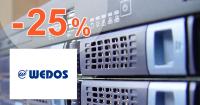 Zľavový kód -25% na VPS SSD a VPS ON Wedos