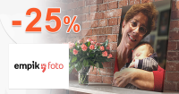 Zľava -25% na obrazy na plátne na EmpikFoto.sk