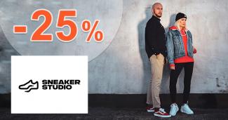 Zľavový kód -25% na všetko na SneakerStudio.sk