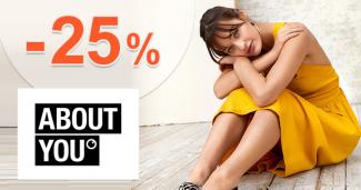Zľavový kód -25% zľava na AboutYou.sk