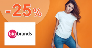 Zľavový kód -25% zľava na kozmetiku na BigBrands.sk