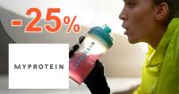 Zľavový kód -25% zľava na všetko na MyProtein.sk