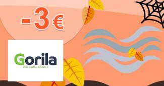 Zľavový kód -3€ zľava k nákupu na Gorila.sk