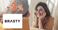 Zľavový kód -3% na vlasovú kozmetiku na Brasty.sk