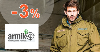 Zľavový kód -3% zľava na všetko na Armik.sk