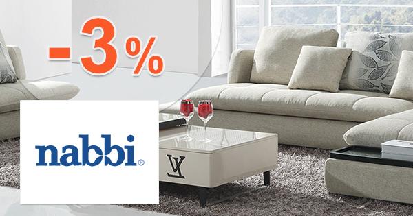 Zľavový kód -3% zľava na všetko na Nabbi.sk