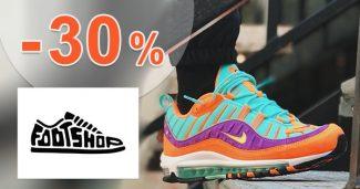 Zľavový kód -30% zľava TOP kúsky na FootShop.sk