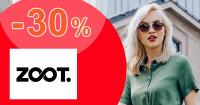 Zľavový kód -30% zľava na módu na ZOOT.sk