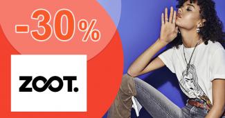 Zľavový kód -30% zľava na zľavnené na ZOOT.sk