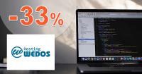 Zľavový kód -33% zľava na Wedos VPS SSD