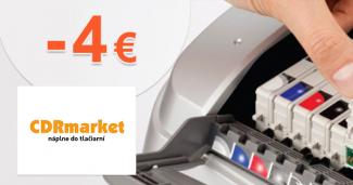 Zľavový kód -4€ na CDRmarket.sk