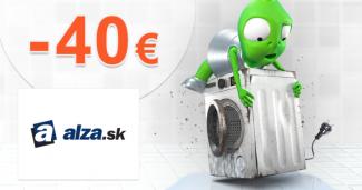 Zľavový kód -40€ na veľké spotrebiče na Alza.sk