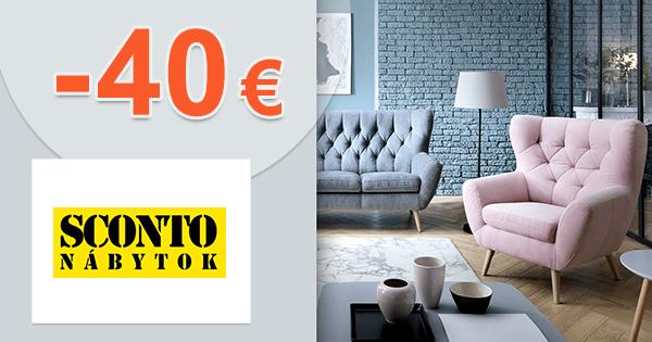 Zľavový kód -40€ zľava na nábytok na Sconto.sk