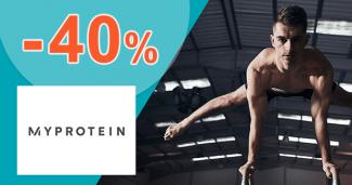 Zľavový kód -40% na MyProtein.sk + darček ZDARMA