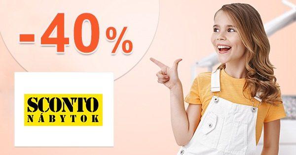 Zľavový kód -40% na detské izby na Sconto.sk
