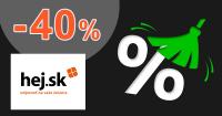 Zľavový kód -40% na vybrané kúsky na Hej.sk