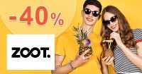 Zľavový kód -40% zľava aj na zľavnené na ZOOT.sk
