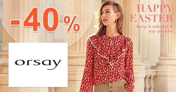 Zľavový kód -40% zľava na oblečenie na Orsay.sk