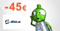 Zľavový kód -45€ zľava na elektrovozidlá na Alza.sk