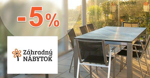 Zľavový kód -5% EXTRA na i-ZahradnyNabytok.sk