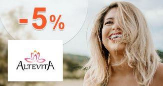 Zľavový kód -5% extra zľava na všetko na Altevita.sk