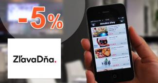Zľavový kód -5% na celý nákup na ZľavaDňa.sk