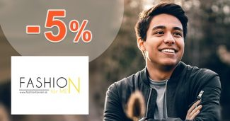Zľavový kód -5% na všetko na FashionForMen.sk