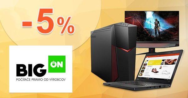 Zľavový kód -5% zľava NA VŠETKO na BigON.sk