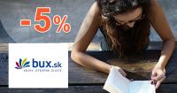 Zľavový kód -5% zľava na knihy na BUX.sk